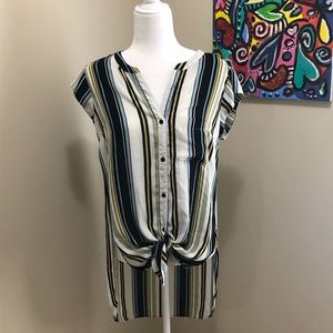 DR2 striped high low top